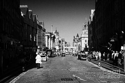 Royal Mile Photograph - The Lawnmarket Top Of The Royal Mile In The Old Town Of Edinburgh Scotland Uk United Kingdom by Joe Fox