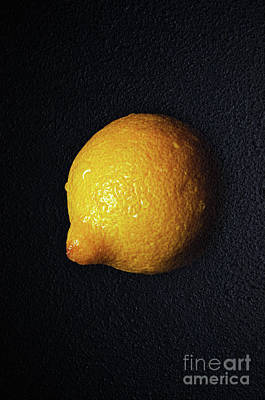 The Lazy Lemon Art Print by Andee Design
