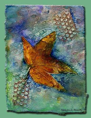 The Leaf That Does Not Wither. Art Print by Cassandra Donnelly