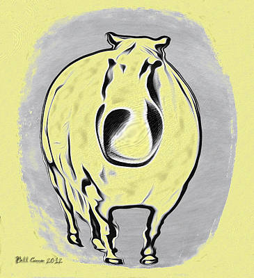 Romney Drawing - The Legend Of Fat Horse by Bill Cannon
