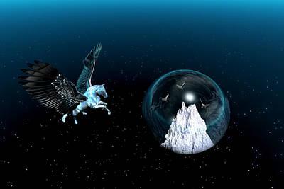 Pegasus Digital Art - The Legend Of Pegasus by Claude McCoy