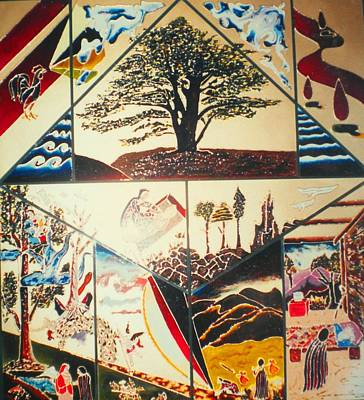 Painting - The Legend Of The Cedar Tree by Ray Khalife