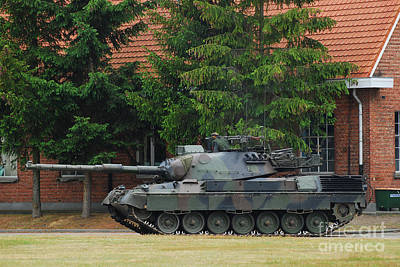 The Main Photograph - The Leopard 1a5 Main Battle Tank In Use by Luc De Jaeger