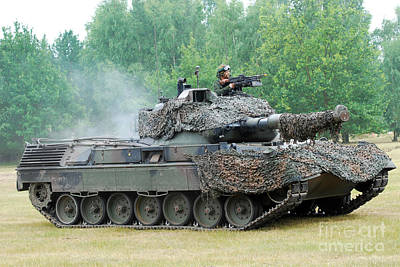 The Leopard 1a5 Main Battle Tank Art Print by Luc De Jaeger