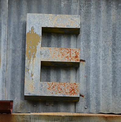 Photograph - The Letter E by Nikki Marie Smith