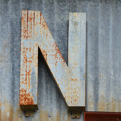Photograph - The Letter N by Nikki Marie Smith