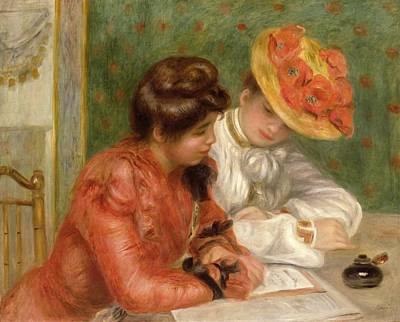 Renoir. Interior Painting - The Letter  by Pierre Auguste Renoir