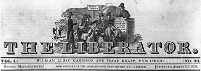 Abolition Photograph - The Liberator Masthead by Photo Researchers