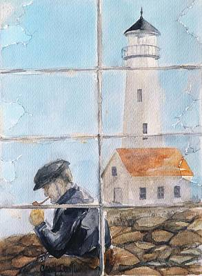 Painting - The Light House Keeper by Gary Partin
