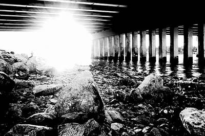Photograph - The Light Under The Bridge by Laura DAddona