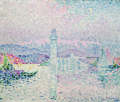 The Lighthouse At Antibes Art Print