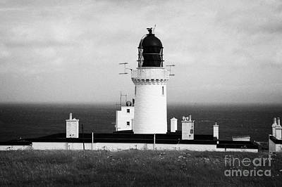 The Lighthouse At Dunnet Head Most Northerly Point Of Mainland Britain Scotland Art Print by Joe Fox