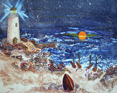 Painting - The Lighthouse by Joy Braverman