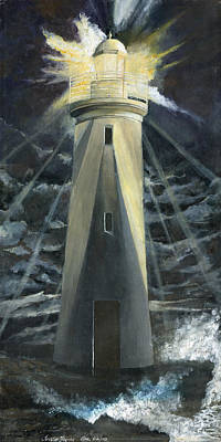 Painting - The Lighthouse by Trister Hosang