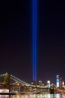 Photograph - The Lights - 9-11 Tribute by Shane Psaltis
