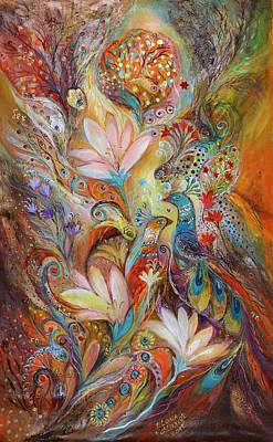 Swarovski Crystal Painting - The Lilies And Bell Flowers by Elena Kotliarker
