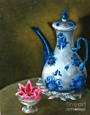Painting - The Lily And The Coffe Pot by Patricia  Lang