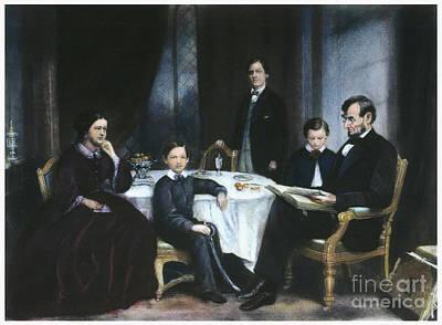 The Lincoln Family Art Print by Granger