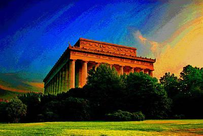 Lincoln Memorial Digital Art - The Lincoln Memorial by Les Mayers