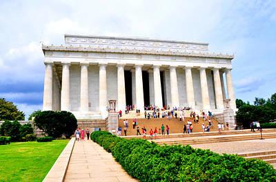 Lincoln Memorial Digital Art - The Lincoln Memorial Washington Dc by Bill Cannon
