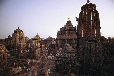 Religious Characters And Scenes Photograph - The Lingaraja Temple In Bhubaneshwar by James P. Blair