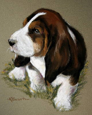 The Little Basset Art Print by Mary Sparrow