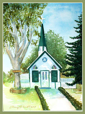Painting - The Little Chapel by Ginny Schmidt