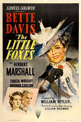Films By William Wyler Photograph - The Little Foxes, Poster Art, Bette by Everett