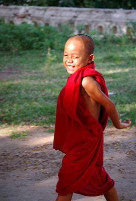 Photograph - The Little Monk Of Mingun by RicardMN Photography