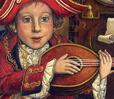 The Little Mozart.detail. Art Print by Victoria Francisco