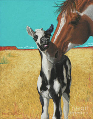 The Little Mustang Art Print by Tracy L Teeter