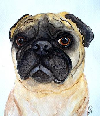 The Little Pug Art Print by Carol Grimes