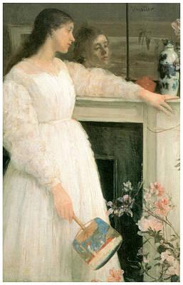 Whistler Painting - The Little White Girl by James Abbott McNeill Whistler