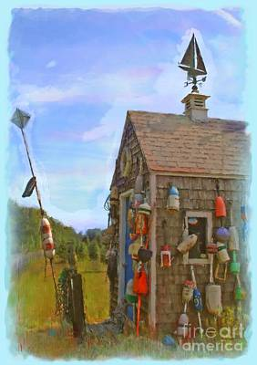 All Weather Painting - The Lobster Fishing Shanty by Earl Jackson