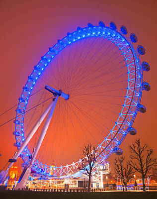 Art Print featuring the photograph The London Eye by Luciano Mortula