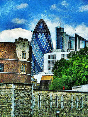 The London Gherkin  Art Print