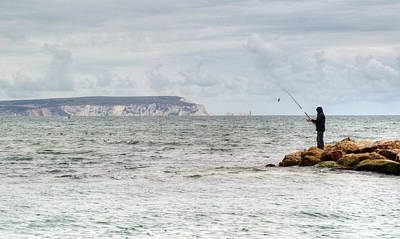 Photograph - The Lone Angler by Chris Day