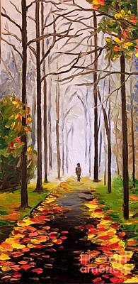 Painting - The Lone Man by Elizabeth Marks
