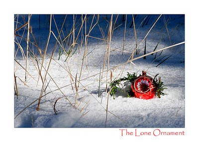 Photograph - The Lone Ornament - 1st Edition by Peter Tellone