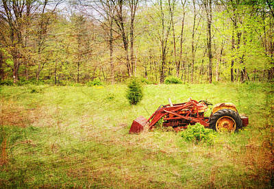The Lone Tractor Art Print by Paul Ward