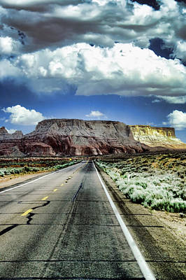 The Long And Lonely Road Art Print by Ellen Heaverlo