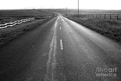 The Long Road Home . 7d9903 . Black And White Art Print by Wingsdomain Art and Photography