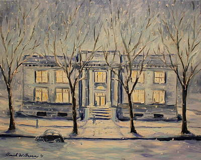 The Long Winter Print by Daniel W Green