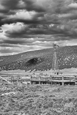 Photograph - the lonly windmill in B and W by David Cutts