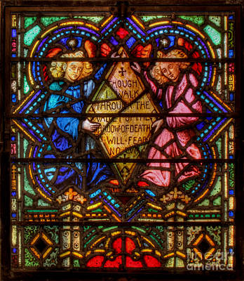 Photograph - The Lord Is My Shepherd Psalm Of David Stained Glass by Lee Dos Santos