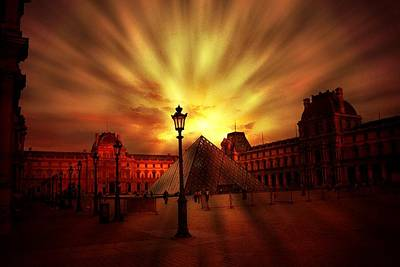Digital Art - The Louvre Museum by Carrie OBrien Sibley