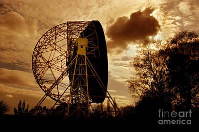 Palm Trees - The Lovell Telescope At Jodrell Bank by Mark Stevenson