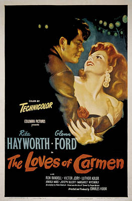Postv Photograph - The Loves Of Carmen, Glenn Ford, Rita by Everett