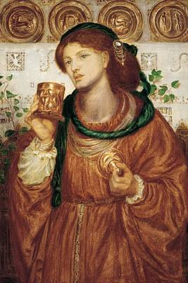The Loving Cup Art Print by Dante Charles Gabriel Rossetti