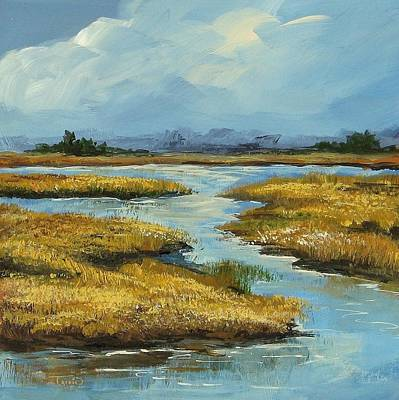 South Carolina Low Country Marsh Painting - The Low Country by Torrie Smiley